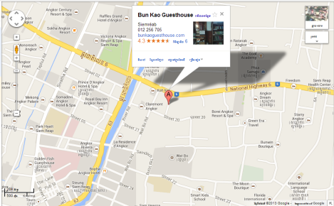 Bun Kao Guesthouse Map